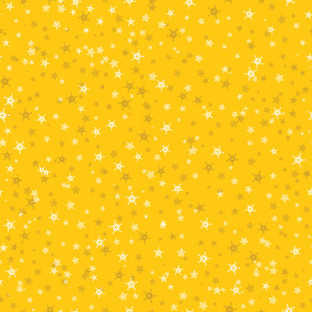 Seamless pattern of many snowflakes on yellow background. Christmas winter theme for gift wrapping. New Year seamless background for website. Stok Fotoğraf - 88832299