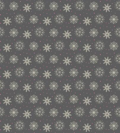 Elegant pattern of many gold and purple snowflakes. Çizim