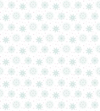 Light blue pattern of many snowflakes.