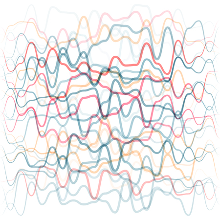Abstract background from colored waves lines. Human circulatory system concept Çizim