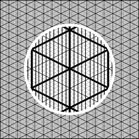 Detailed isometric grid to create volumetric images for games. Vector illustration