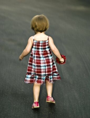 two and a half: Cute two and half year old toddler girl. Stock Photo