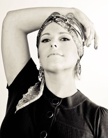 Un modello femminile, fotografata in studio.  Archivio Fotografico - 3172868
