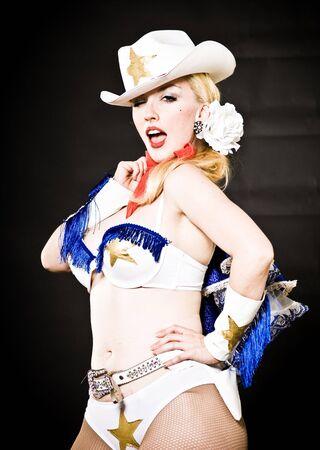 Phoenix burlesque performer Pyrasutra, shot in the studio. photo