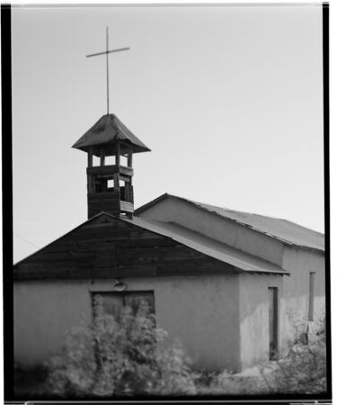 cros: An abandond church in New Mexico, photographed on 4x5 film.