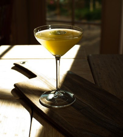 Masterfully prepeared cocktails, photographed in a restaurant on a farm.