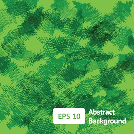 abstract hand drawn green background Vector