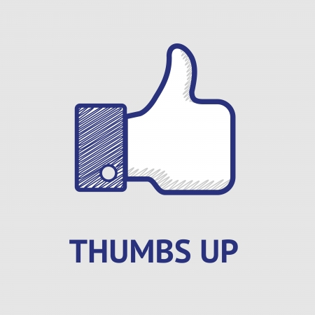 Thumbs up in dots Vector