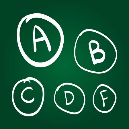 Hand drawn grades