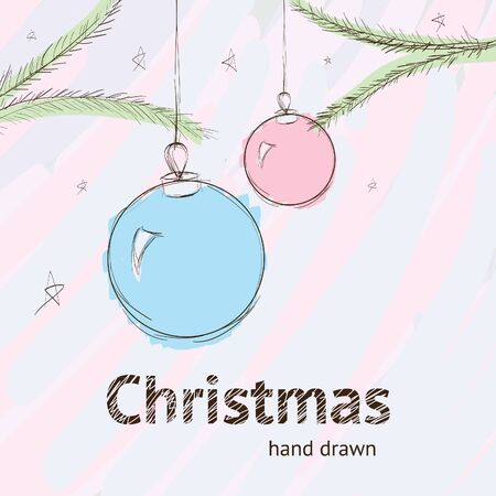 taper: Christmas hand drawn