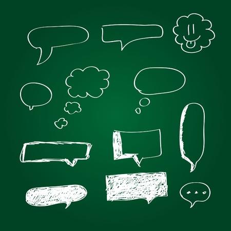 bubble pen: Collection of hand drawn speech bubbles Illustration