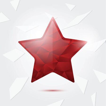 red diamond: Big Red Diamond Star