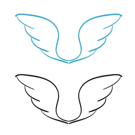 alas de angel: Alas drenados mano