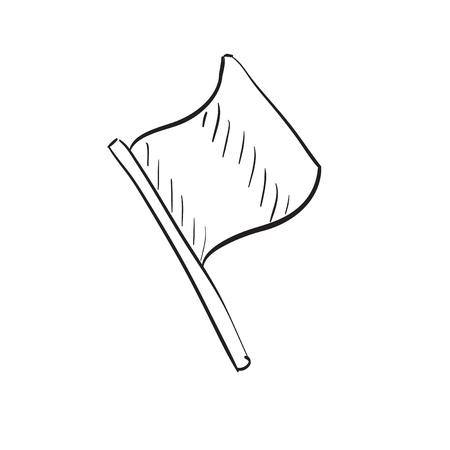 rallying: Mano bandera dibujada