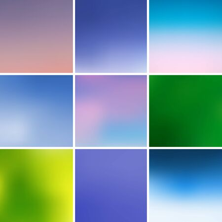 Multicolored squares with reflection Vector