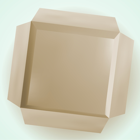 empty box: Vector picture, cardboard isolated box