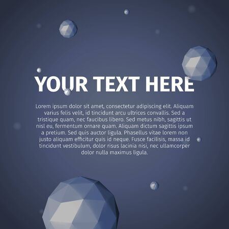 your text here: Your text here with vector, group of triangles spheres
