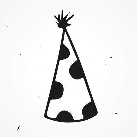 sombrero de mago: Mano sombrero de mago dibujado, vector del doodle