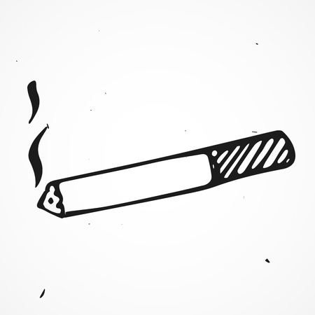 Cigaret hand drawn isolated, vector doodle object