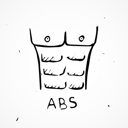Vector abs Hand drawn, doodle element isolated Illustration