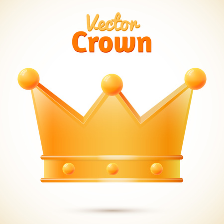 luxuriance: Vector crown isolated, object with shadow, illustration