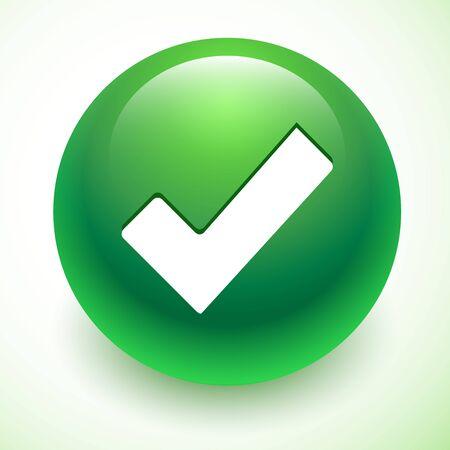 Vecteur accepter symbole vert isolé avec l'ombre Vecteurs