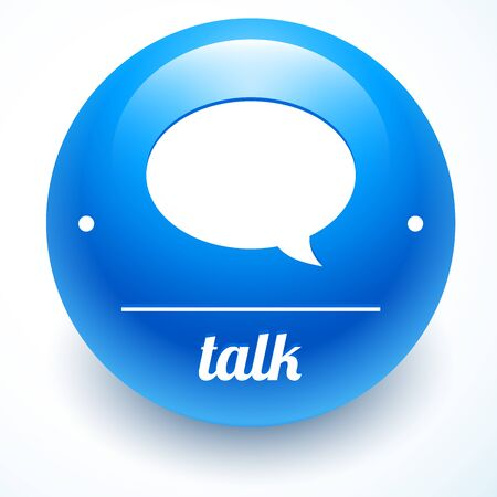 vector message: Vector message symbol on blue awesome sphere