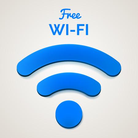 wireless signal: wireless internet signal isolated. Illustration