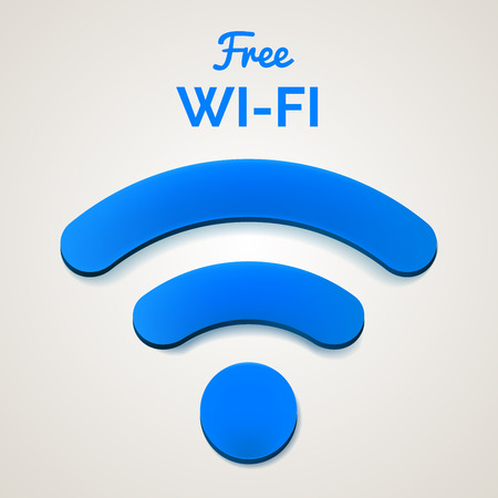 wireless signal: wireless internet signal isolated. Stock Photo