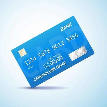 Creditcard geïsoleerd, vector illustratie met schaduw Vector Illustratie