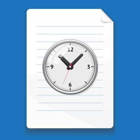 on temporary: temporary file on a blue background, isolated Illustration