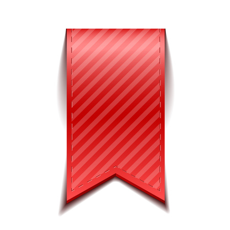 ruban noir: signets vecteur rouge isol�, sur fond blanc