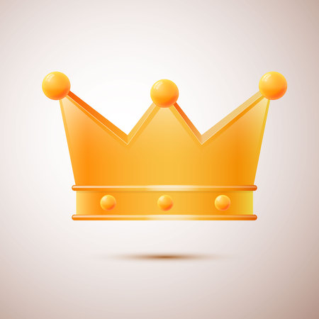 crook: Awesome vector crown isolated, vector illustration with shadow Illustration