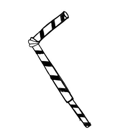 tubule: Vector isolated doodle tubule, on white background