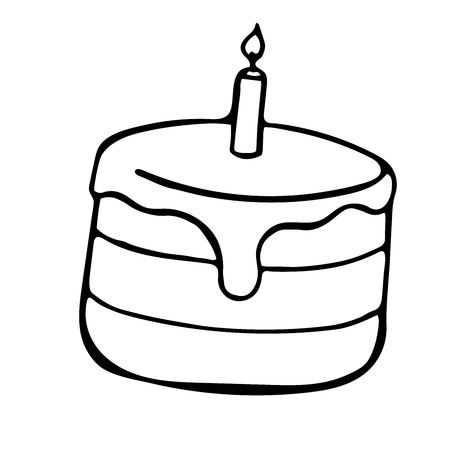 fruitcakes: Pie sketch style illustration. Vector cake doodle isolated