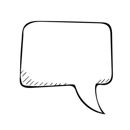 isolated illustartion: sketchy speech bubble. Vector doodle isolated illustartion
