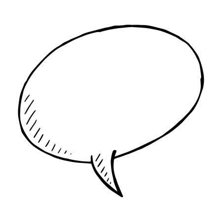 isolated illustartion: Hand drawn speech bubble, Vector doodle isolated illustartion