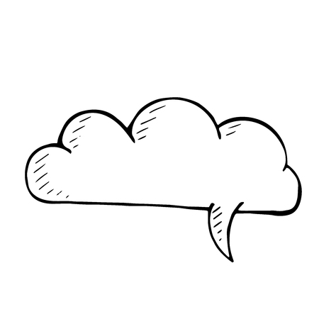 isolated illustartion: Sketchy doodle speech bubble. vector hand drawn isolated illustartion