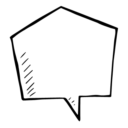 isolated illustartion: Sketchy vector speech bubble. doodle isolated illustartion