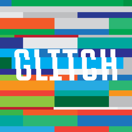 glitch: Vector glitch background with inscription. glitch pattern