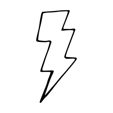 Vector doodle illustration for design. lightning bolt hand drawn Фото со стока - 55511733