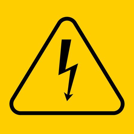high voltage symbol: Danger sign with frame. vector illustration of high voltage symbol