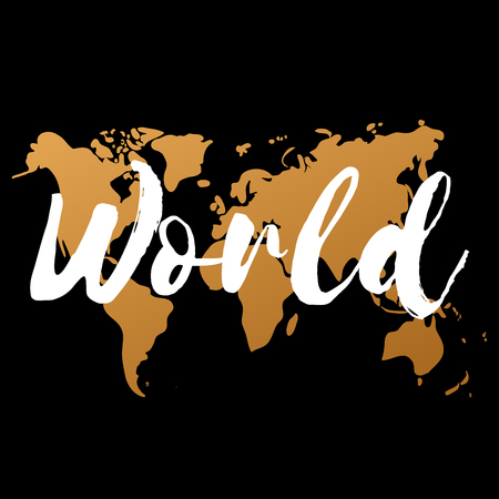 Vector gold world map on black background doodle world map vector vector gold world map on black background doodle world map vector world gold map design world map art world map illustration world map sign gumiabroncs Gallery