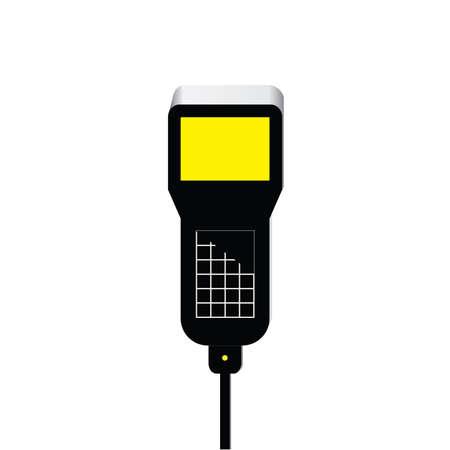 meetinstrument met scherm Stock Illustratie