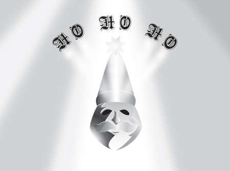 glass santa clause with ray of lights Illusztráció