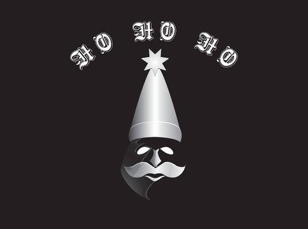 santa in phantom mask and hat Stock fotó - 34086687