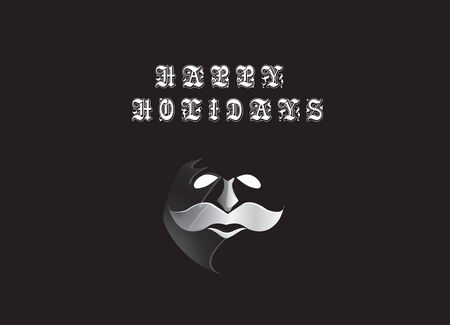 ho: santa in phantom mask Illustration