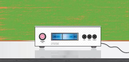 am radio: vintage radio on table