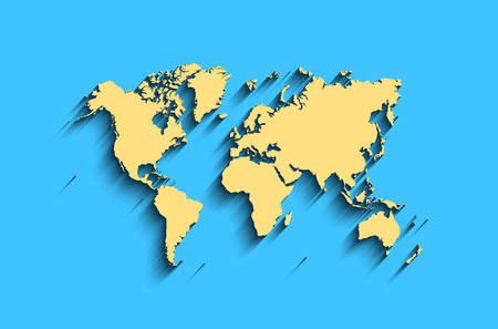 A Picture Of The World Map.Flat World Map Abstract Vector Background For Wallpaper Banner