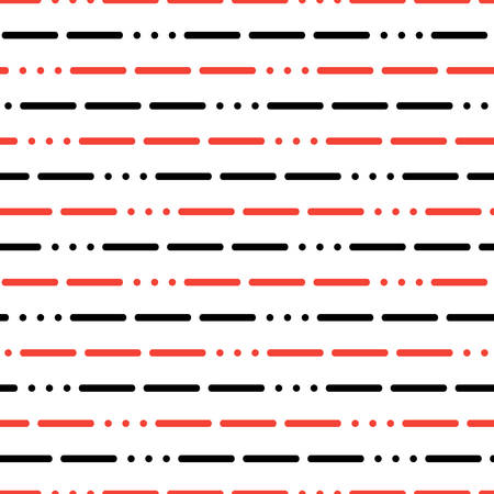 morse code: modern background with lines and dots on a white background. abstract Morse code SOS background. seamless pattern. vector illustration for authorization, Cryptography, web, programming, development